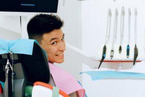 Man at dentist for a dental checkup