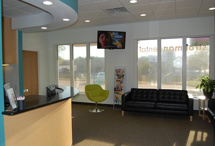 Comfortable Wichita falls dental office waiting area